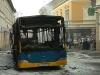 Kiégett egy busz az Irgalmasok útján