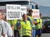 Lezárták az 58-as utat és tüntettek a vállalkozók