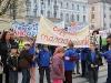 Tanárok és diákok tüntettek