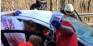 Kamionnak ütközött egy autó Komló és Pécs között