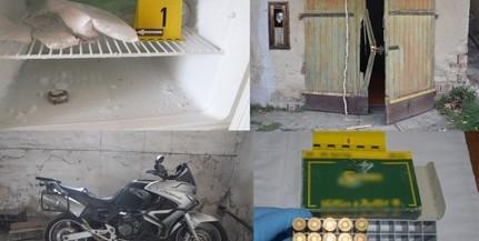 Drog, lőszer is előkerült a baranyai motortolvajoknál