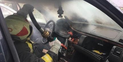 Lángolt egy autó hétfő reggel Pécsen, a Komlói úton