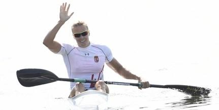 Kozák Danuta aranyérmes, bronzérmes a férfi kajaknégyes