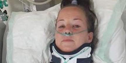 Túlélte a zuhanást Alexandra, ablaktisztítás közben eshetett ki a harmadikról