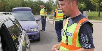 Több mint ezer autóst ellenőriztek a rendőrök pár óra alatt a sztráda szajki pihenőjénél