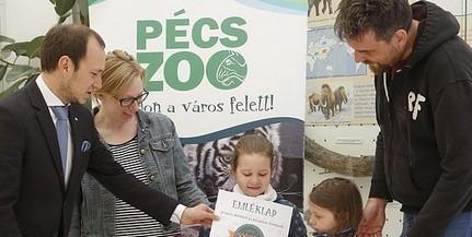 Érdről érkezett hétfőn a Pécsi Állatkert félmilliomodik látogatója