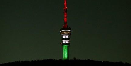 Nemzeti színekben pompázik kedden este, Magyarország születésnapján a tv-torony