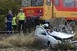Autóval ütközött egy vonat, a helyszínen meghalt a sofőr