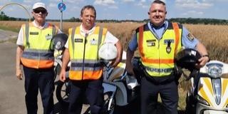 Motoros polgárőrök is vigyázzák a rendet Baranyában