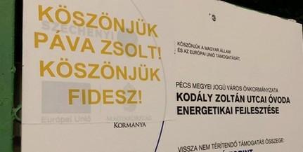 Köszönjük, Páva Zsolt, köszönjük, Fidesz - Ezekkel a feliratokkal noszogatják Péterffyéket