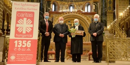 Minden segélycsomagban van egy angyal, mondja az egyházmegye Caritas Hungarica díjasa