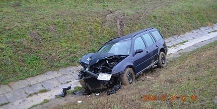 Ittas sofőr okozta az egyik baranyai balesetet