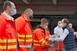 Frissítőket kaptak a mentőszolgálat munkatársai Pécsett