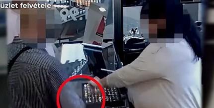 Nézze meg, milyen trükkel nyúlt le egy férfi három gyűrűt egy pécsi ékszerboltban - Videó!