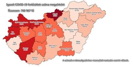 Átlépte a 26 ezret a baranyai fertőzöttek száma
