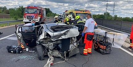 Komoly baleset az M6-oson, lezárták a Pécs felé vezető oldalt