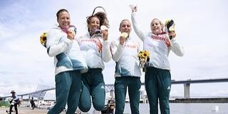 Csodálatos lányok! Aranyérmes a női kajaknégyes