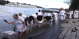 Az egykori kemény munkából, a dunai mosásból mára látványosság lett Mohácson