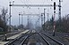 Elmosta az eső a vasúti pályát Godisa és Komló között