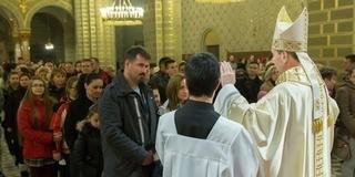 Szentmisén áldotta meg a családokat a megyéspüspök